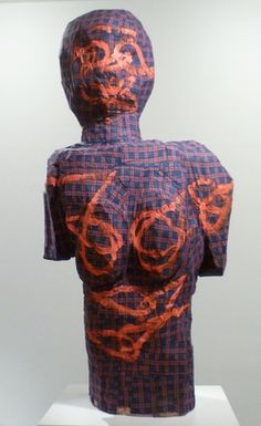 Georg Baselitz, Thing with asia, 1995. Wood, fabric and painting.