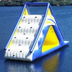 A Gigantic Water Play Slide. This would be fun at the lake house.