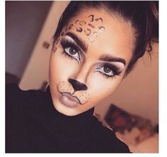 Are you looking for inspiration for your Halloween make-up? Browse around this site for cute Halloween makeup looks. Cheetah Makeup, Animal Makeup, Lion Makeup, Cat Face Makeup, Kitty Cat Makeup, Easy Cat Makeup, Cat Cat, Cat Makeup Tutorial, Tiger Makeup