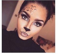 Are you looking for inspiration for your Halloween make-up? Browse around this site for cute Halloween makeup looks. Cheetah Makeup, Animal Makeup, Lion Makeup, Easy Cat Makeup, Cat Face Makeup, Tiger Makeup, Kitty Makeup, Uk Makeup, Crazy Makeup
