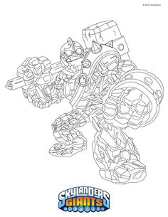 Find This Pin And More On Skylander Birthday CRUCHER Coloring Page
