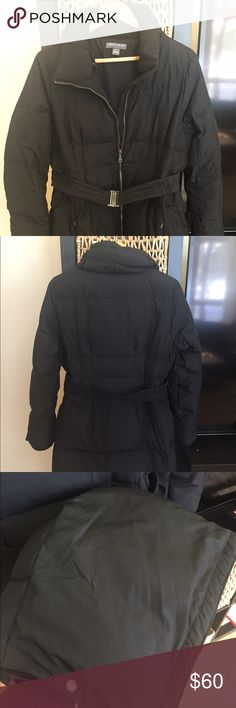 Black Maternity Down Jacket Pea in the Pod maternity knee length down coat with belt and hood that can be removed. Black and size Large. Paid $200 and in Perfect condition. A Pea in the Pod Jackets & Coats Puffers
