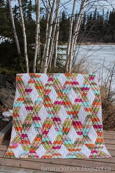 Love the quilting, Kate Spain fabrics