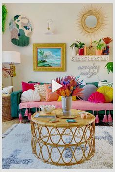 Colourful Living Room, Boho Living Room, Boho Room, Bohemian Living, Eclectic Living Room, Cozy Living, Funky Living Rooms, Funky Bedroom, Colorful Rooms