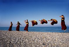 Tibetan monks from Shechen Monastery in Nepal during a European tour of sacred dances. photo by Matthieu Ricard