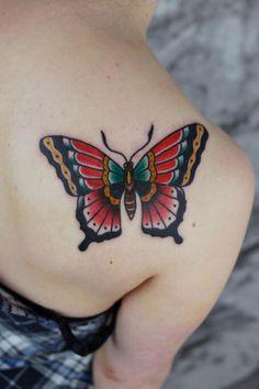 Done Sang Bleu London Tattoo thanks again Peta! - Done Sang Bleu London Tattoo thanks again Peta! Monarch Butterfly Tattoo, Butterfly Tattoo On Shoulder, Butterfly Tattoos For Women, Butterfly Tattoo Designs, Shoulder Tattoo, Red Butterfly, Simple Butterfly, Morpho Butterfly, Traditional Butterfly Tattoo