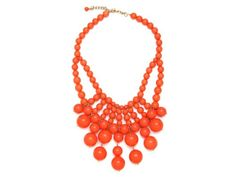 Orange Bib Necklace.