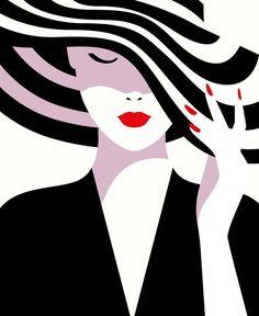 Sephora us - malika favre arte minimalista, obras de arte, pintura y dibujo Arte Pop, Penguin Books, Desenho Pop Art, Graphic Art, Graphic Design, The New Yorker, Oeuvre D'art, Fashion Art, Illustrators