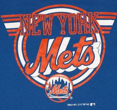 Vintage 1980s New York NY Mets MLB Baseball T-Shirt Tee Shirt 1988 80s Blue. $18.00, via Etsy.