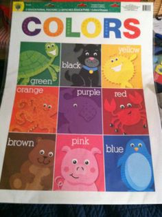 2 Set Educational Charts: Colors & Shapes: Great for Early Learning/ 2 Price of 1 | eBay I only received 1 in my shipment....so come get it...Cute!