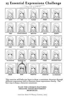 25 Essential Expressions Challenge by Jasterrr.deviantart.com #expressions