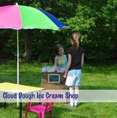 Cloud Dough Ice Cream Shop for Summer Party Pretend Play Fun! #kids