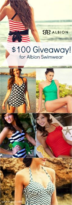 $100 Albion #Giveaway for swimsuits or fitness clothes