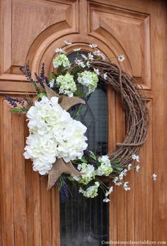 Make a Hydrangea Wreath for Spring   http://betweennapsontheporch.net/make-a-spring-hydrangea-wreath-for-your-front-door/