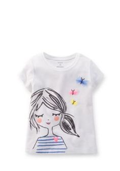 online shopping for Carters Baby Clothing Outfit Girls Butterfly Girl Tee T-shirt Ivory from top store. See new offer for Carters Baby Clothing Outfit Girls Butterfly Girl Tee T-shirt Ivory