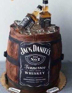 36 Whiskey Birthday Cake Design ideas For also love these ideas. Johnnie Walker Whiskey Bottle Birthday Cake by Sweet Element Cakes. Scotch Bottle in Crate Birthday Cake. 50th Birthday Cakes For Men, Birthday Cake For Boyfriend, Dad Birthday, Jack Daniels Cake, Jack Daniels Birthday, Liquor Bouquet, Western Cakes, Whiskey Cake, Bottle Cake
