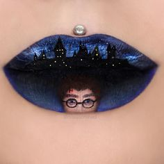 This Woman's Stunning Lip Art Includes Harry Potter And Disney Themes