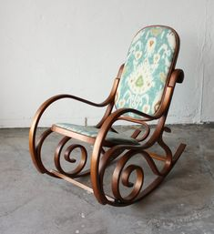 Beautiful Antique Authetic Thonet Bentwood Rocking Chair from onemanstrashlasvegas on Etsy. Refurbished Furniture, Furniture Makeover, Antique Furniture, Home Furniture, Painted Furniture, Furniture Ideas, Modern Furniture, Furniture Design, Bentwood Rocker