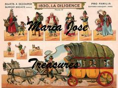 Vintage Reproduction of Stagecoach Paper Model Cut Outs - Digital Download by MariaJoseTreasures on Etsy