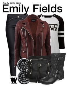 """""""Pretty Little Liars"""" by wearwhatyouwatch ❤ liked on Polyvore featuring H&M, Doma, BERRICLE, River Island, Fergalicious, television and wearwhatyouwatch"""