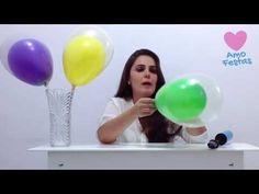 01  ▶ Como colocar um balão dentro do outro - decorações de balões / bexigas - YouTube