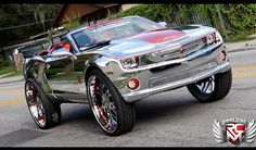 Over-The-Top Enough? Chrome-Wrapped Camaro on 32's - Autoholics
