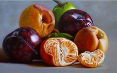 Bodegón Decorativo con Frutas Pintura Decorativa Pintada en Óleo Cuadro de Bodegón con Frutas en Óleo Sobre Lienzo Bodegones Comerciales P...