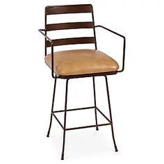 Henry Counter Stool, Tan Leather