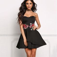 Eva Strapless Mini Dress