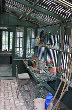Potting Shed at the Carmelite Monastery ~ Carmel, CA by Lynel Moore
