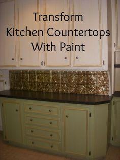diy countertop treatment - granite look - this is great! i've been