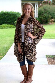 Lucky in Leopard Kimono | Hazel & Olive