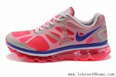 Nike Air Max 2012 (GS) Blanc Rouge 487982 003 Femmes Chaussures