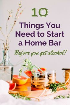 Top Ten Essential Items for a Home Bar (Not Including Alcohol!) So you want to have a bar at home (or a cupboard or shelf, whatever works!) - then there are some essentials you need. If you want to make cocktails, simple mixed drinks or Gin Cocktail Recipes, Sweet Cocktails, Whiskey Cocktails, Sangria Recipes, Classic Gin Drinks, Fancy Drinks, Triple Sec Cocktails, Easy Mixed Drinks, Easy Drink Recipes