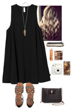 """""""This is like my Thanksgiving outfit, but my dress is maroon and white stripes."""" by kaye-376 ❤ liked on Polyvore featuring RVCA, Aéropostale, Forever 21, Stila, Billabong, Ted Baker, Fujifilm and Casetify"""