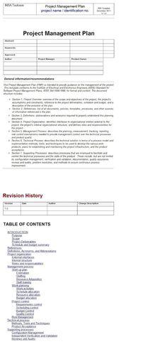Project Management Plan | Project Management and Business Management …