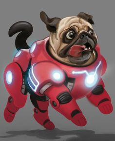 Draw a pug wearing futuristic armour with these pro tips. #dogsfunnydrawings