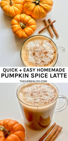 Quick and easy homemade pumpkin spice latte recipe! Homemade Pumpkin Spice Latte, Pumpkin Spice Syrup, Vegan Pumpkin, Pumpkin Recipes, Fall Recipes, Holiday Recipes, Pumpkin Spice Cappuccino Recipe, Starbucks, Dairy Free Recipes