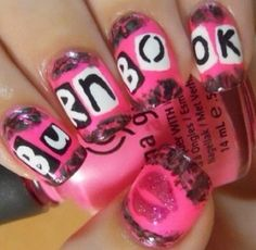 Mean Girls Burn Book! #ManicureMonday Get Nails, Fancy Nails, Love Nails, How To Do Nails, Pretty Nails, Hair And Nails, Weird Nails, Mean Girls Burn Book, Girls Nails
