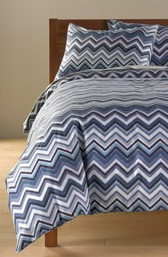 Love all the shades of blue - Chevron Duvet Cover