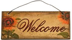 Fall Welcome Mini Sign will look good hanging from a wreath or basket in your home.