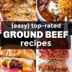 Our Best Ground Beef Recipes! We always keep a stash of ground beef in the freez… Our Best Ground Beef Recipes! We always keep a stash of ground beef in the freezer for quick, inexpensive and easy ground beef dinners. Ground Beef Crockpot Recipes, Beef Casserole Recipes, Beef Recipes For Dinner, Meat Recipes, Quick Recipes, Hamburger Recipes, Top Recipes, Minced Beef Recipes Easy, Beef Meals