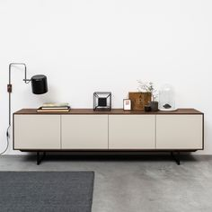 Pastoe - Noon sideboard Joost Selection - Combo Design is official dealer of Pastoe ✓ Pastoe – Noon sideboard Joost Selection easy to ord - Living Room Tv, Home And Living, Wooden Shelf Design, Commode Design, Home Furniture, Furniture Design, Rack Tv, Home Goods Decor, Home Decor