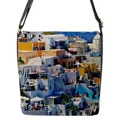 #Seaside houses and #rooftops in #greece cross body messenger bag m l,  View more on the LINK: http://www.zeppy.io/product/gb/2/361200408427/
