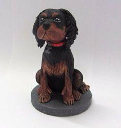 Clay Dog Sculpture