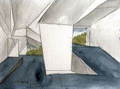 What is Architecture? According to Steven Holl Steven Holl Architecture, Architecture Panel, Drafting Drawing, Architecture Concept Drawings, Green Facade, Model Sketch, Easy Watercolor, Sketchbook Inspiration, Architectural Sketches