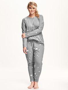 Printed Jersey Plus-Size PJ Set - Plus Size Pajamas for women - Ideas of Plus Size Pajamas for women Pijama Plus Size, Plus Size Pajamas, Plus Size Womens Clothing, Plus Size Fashion, Clothes For Women, Mom Clothes, Trendy Clothing, Women's Clothing, Urban Outfits