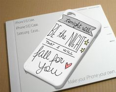 Secondhand Serenade Lyric inspired Case for iPhone by NiniThowok, $13.99