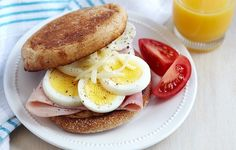 Microwave Egg & Ham Muffin