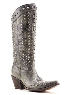 Ladies Corral Black Studded Boots C2791 - Texas Boot Company is located in Bastrop, Texas. www.texasbootcompany.com